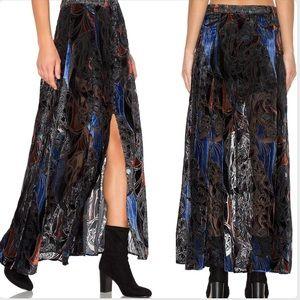 Free People Velvet Burnout Love So Right Skirt